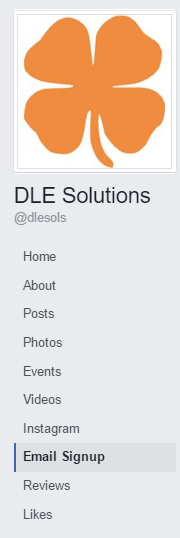 DLE Solution's Facebook side tabs